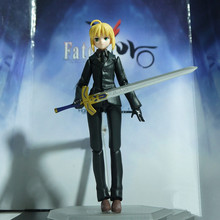 Anime Fate/stay Night Zero Black Suit Saber Altria Pendragon 14CM PVC Action Figure Toy Collection Model Gift