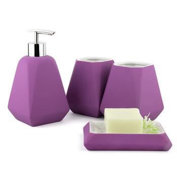 Скандинавском стиле резиновая краска сплошной цвет керамической комплект ванной четырех деталей комплект ванная комната украшения установить запасы ванной краткое