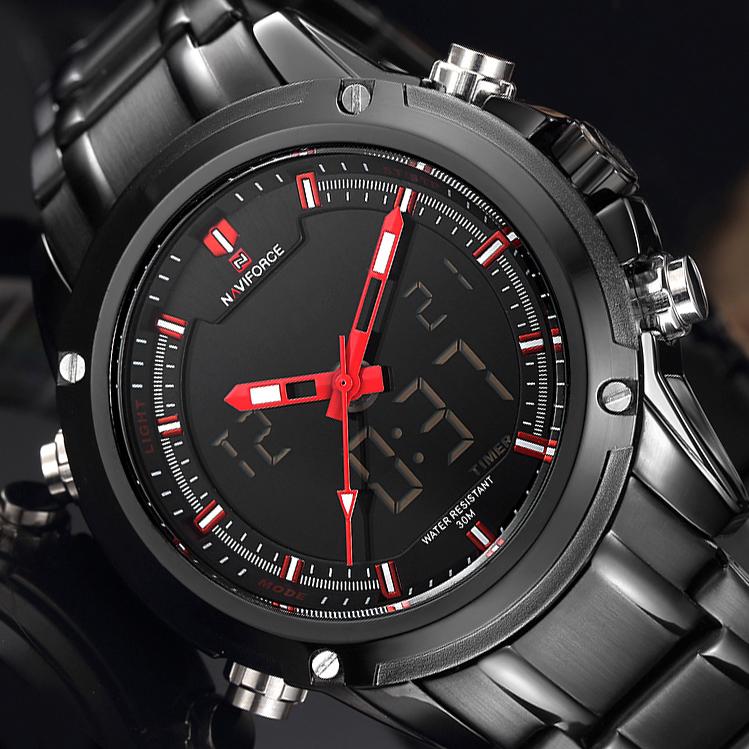Top Luxury Brand NAVIFORCE Men Waterproof LED Sports Military Watches Men's Quartz Analog Digital Wrist Watch relogio masculino(China (Mainland))