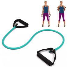 resistance exercise band tubes stretch yoga fitness equipment workout pilates green for wholesale and free shipping kylin sport