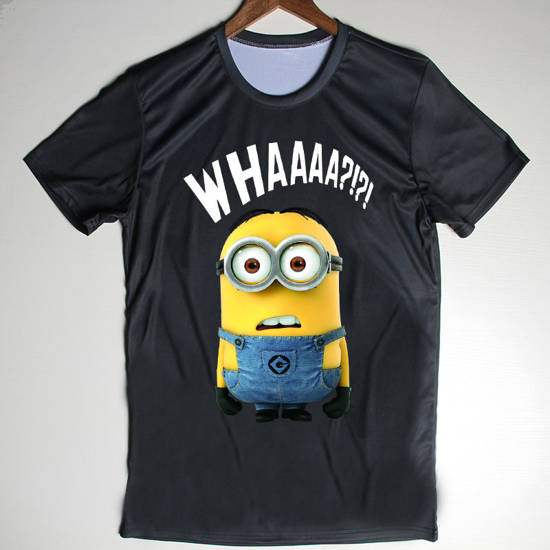 Summer New Men Tops Minions T Shirts for Mens Clothing Anime Despicable Me Camisetas Short Sleeve