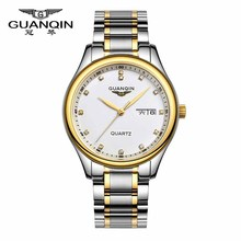 Origianl GUANQIN 2015 Top Brand Luxury Quartz Watch Men Waterproof Sapphire Mirror Fashion Men Watches Relogios