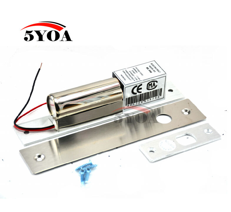 Electric Bolt Lock 2-Lines DC 12V Stainless Steel Heavy-duty Fail-Safe Drop Door Access Control Security(China (Mainland))