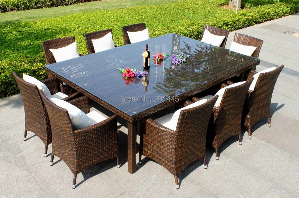 outdoor table set rattan dining table and chair patio