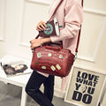 2016 New Fashion Handbag Women Designer Crocodile print Metal Ornament Bag Designer Casual Shoulder Bag Small
