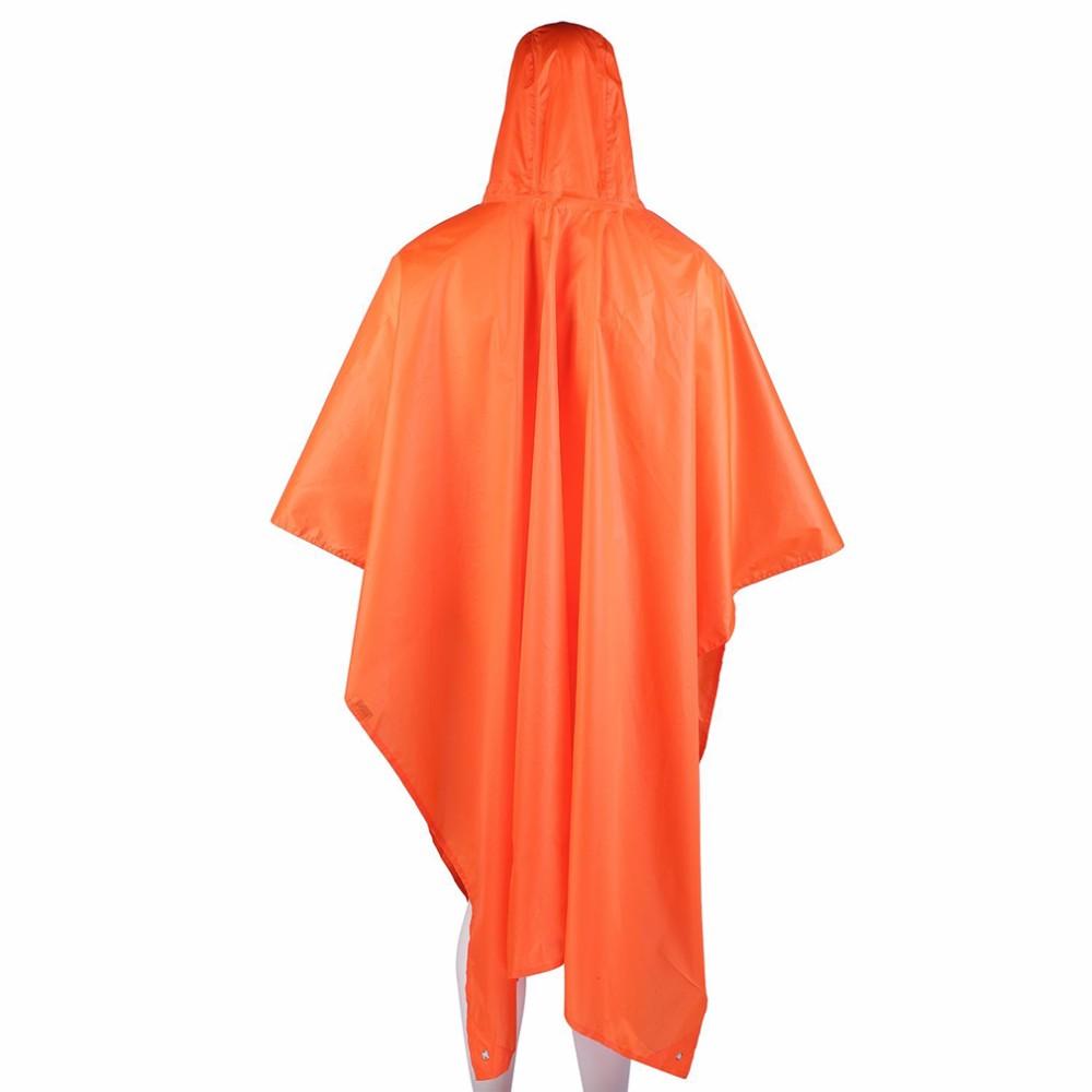 3 in 1 Multifunctional Raincoat Outdoor Travel Rain Poncho Backpack Rain Cover Waterproof Tent Awning Climbing Camping <font><b>Hiking</b></font>