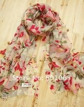 w082204 100% woolen scarf,printed stripe pattern with size 195cm*65cm with fringe for free shipping(China (Mainland))