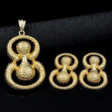 סאני תכשיטי ממצאי תכשיטי סטים לנשים מתנות עגילי תליון שרשרת ביצת צורת חתונה(China)