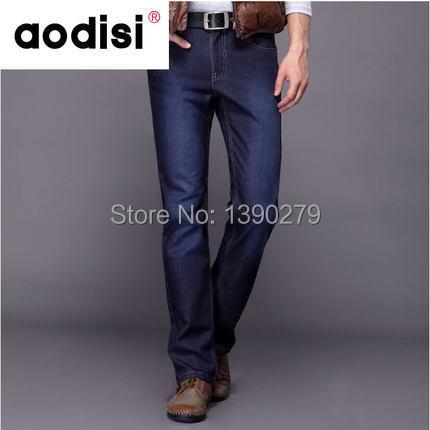 2014 fashion designer brand men jeans denim pants trousers, winter with wool warm pants jeans,Business joker mens jeans(China (Mainland))