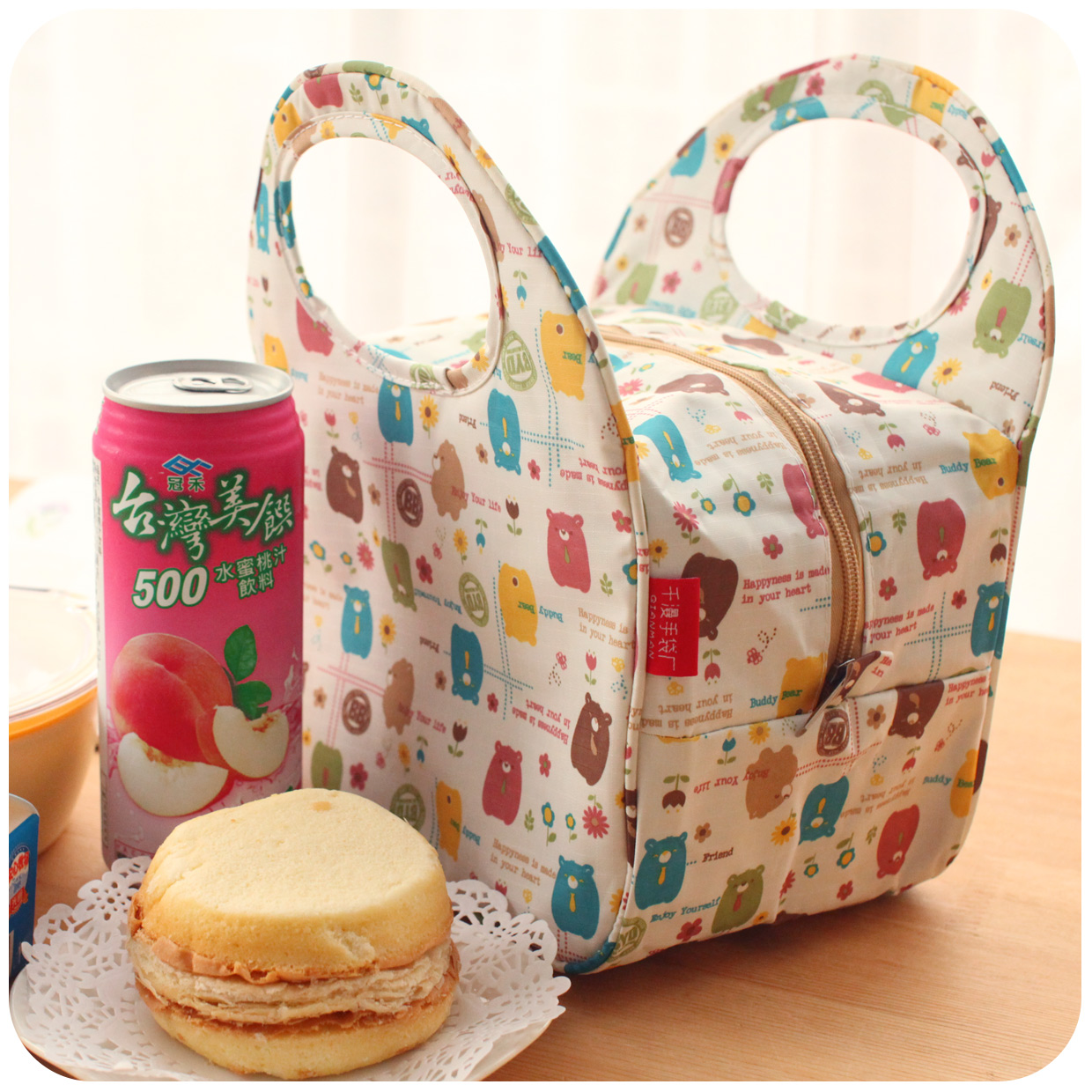 ! New Cute Waterproof Lunch Bag Small 4 Colors Animal Pattern Box F675 - Fiona's Wallet and Store store