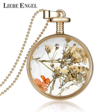 Buy LIEBE ENGEL Women Jewelry Collares Dried Flowers Glass Necklace&Pendant Vintage Long Chain Choker Necklace Summer Fine Jewelry for $2.04 in AliExpress store