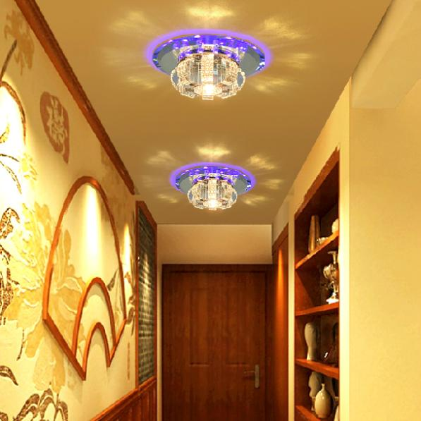 free shipping 3W luxury crystal ceiling light lamp modern corridor light balcony decorations lights &amp; lighting abajur AC200-240V<br><br>Aliexpress
