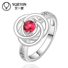 2015 wholesale 925 Silver ruby Austrian Crystal CZ Simulated Diamonds Fashion Jewelry Acessories new design finger