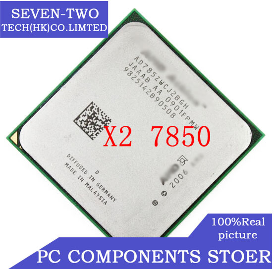 FREE SHIPPING NEW CPU X2 7850 CHIPS athlon x2 7850 dual core CPU clocked 2.8G desktop central processor cpu cooler x2-7850(China (Mainland))