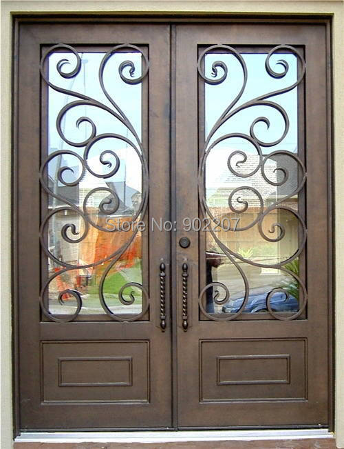 Shanghai Henchuang wrought iron entry door manufacturer model hench-ied13(China (Mainland))