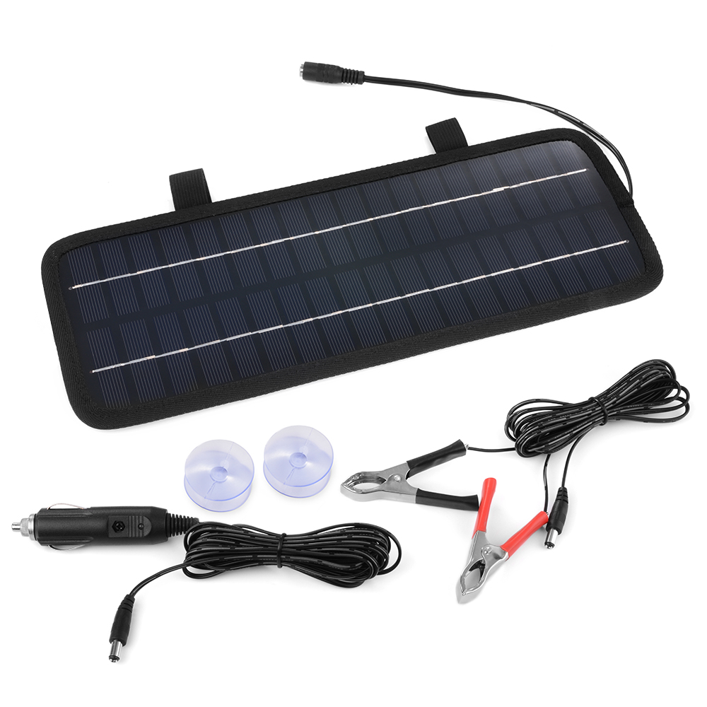 4.5W 12V Solar Panel Battery Charger For Car Auto Motorcycle Truck Boat BC566(China (Mainland))