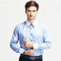 2016 Casual Men Shirt Blusas Chemise Homme Camisa social Masculina Slim Fit Long Sleeve Solid Brand