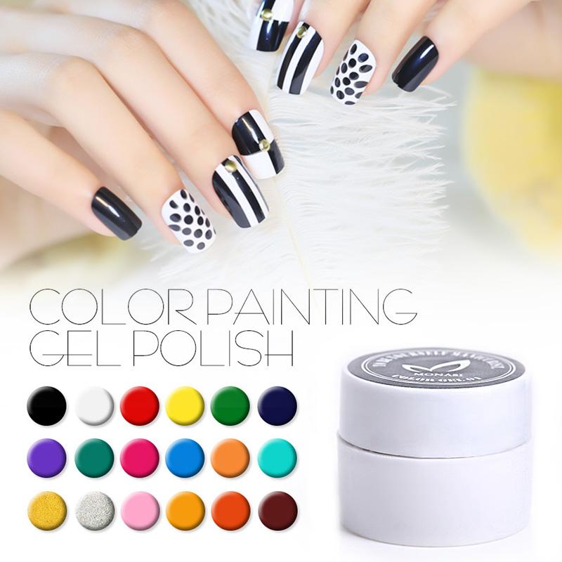 MONASI 1pcs Gel Nail Paint Polish Draw Painting Solid Pure Glitter UV Gel Long-lasting Nail Polish 36 Colors Pick 1(DP13~DP24)(China (Mainland))