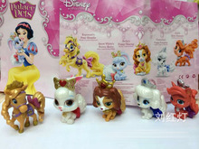 Princess Princesses beautiful Plalace Pets exquisite cute figures toy toppers 5 pcs set birthday cake toppers present