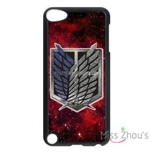 For iphone 4/4s 5/5s 5c SE 6/6s plus ipod touch 4/5/6 back cellphone cases cover Attack on Titan Shingeki no Kyojin Anime Badge