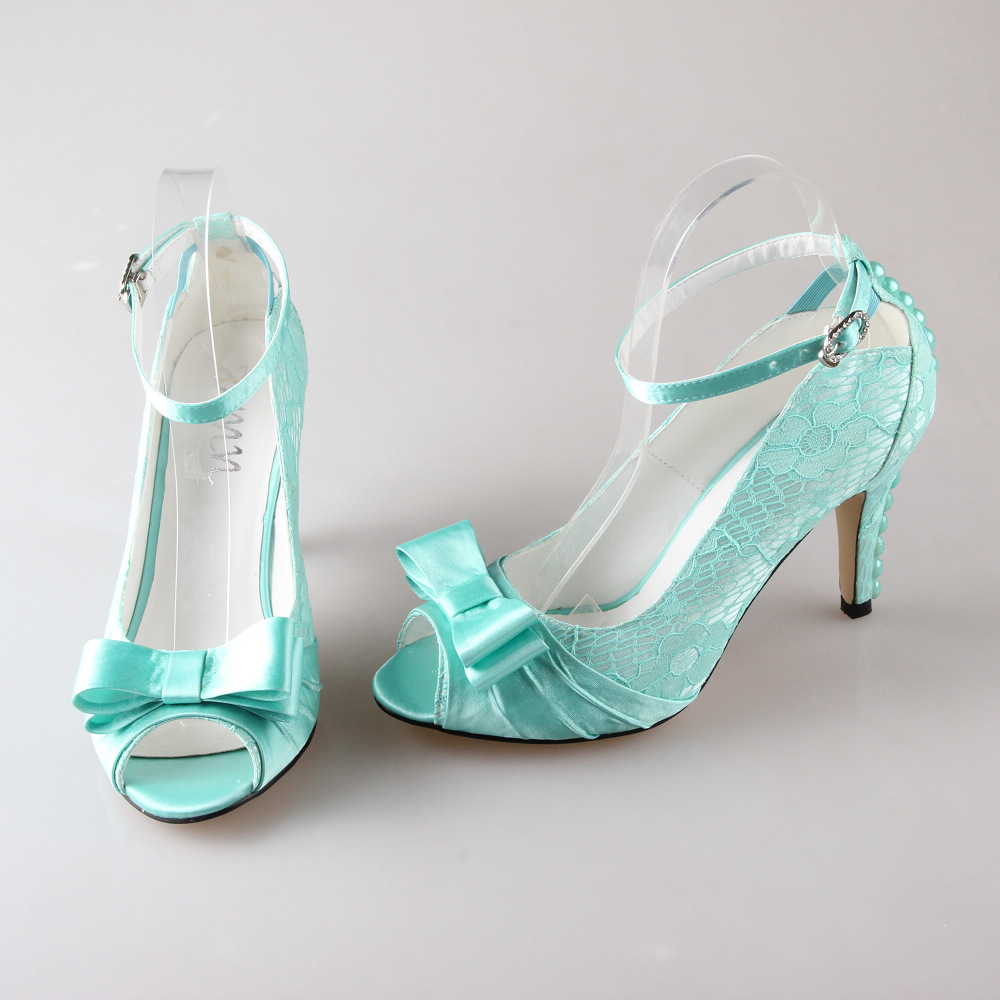 Aqua Blue High Heels Shoes
