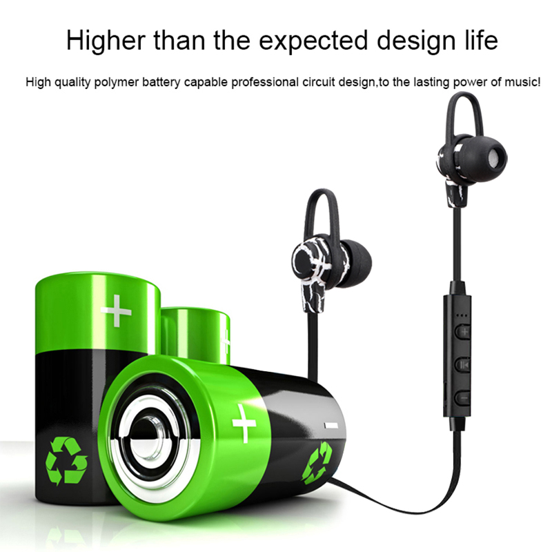 Sports Wireless Bluetooth Headset V4.0 Earphone Gym Headphone with Mic Earbuds Universal for iPhone7 plus Xiaomi Mobile Phone PC