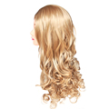 2015 New Film Inspired Princess Cinderella Long Halve Curly Ash Movie Cosplay Wig Queen Blonde Hair