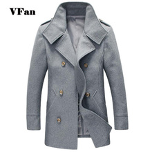 Slim Fit Men Woolen Coat Fashion Casual Brand Design Double Breasted Long Section Masculino Outdoor Coat Z1774-Euro(China (Mainland))