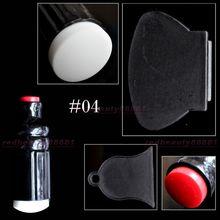 Nail art Stamping Stamper Scraper + Print Head Fission Seal Nail Art Stamping Polish Nail Decoration Tool 1 Set  N 04(China (Mainland))