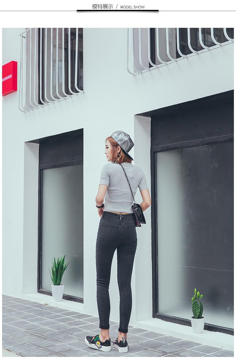 Скидки на Boyfriend отверстия рваные джинсы женщины брюки Прохладный джинсовые старинные прямые джинсы для девушки Высокой талией случайных брюки женские