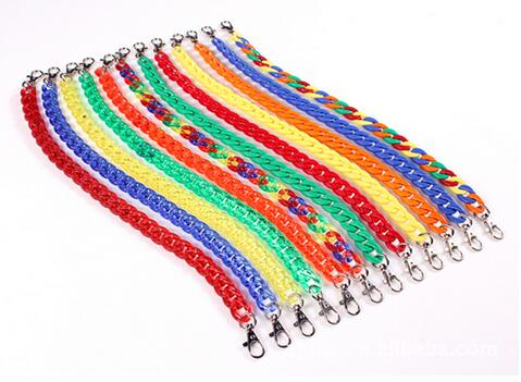 24pcs Baby boys girls candy color pants chain jeans accessories multicolour belt buckle colorful plastic changed waist chains