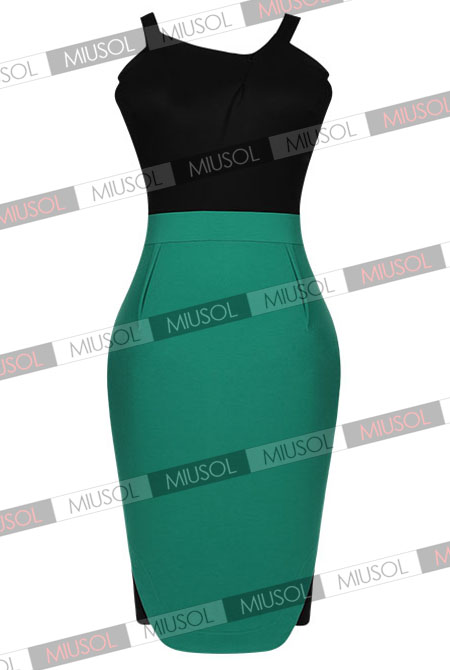 Women's Celeb  Off  shoulder Contrast Vintage Straps Bridesmaid  Party Bodycon Summer Dresses Size 102468/SML   1883