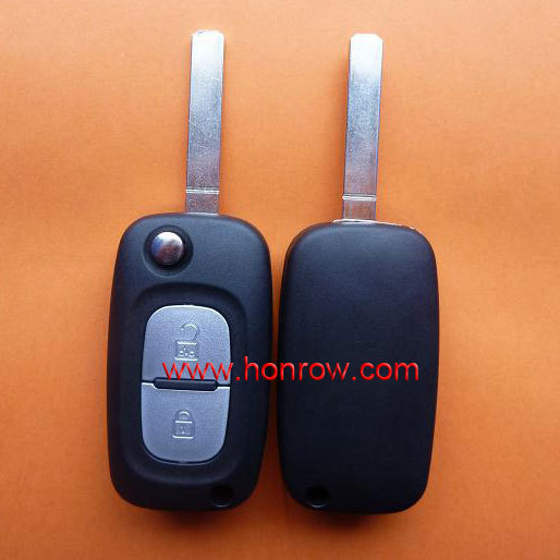 High quality Renault 2 button remote flip key blank with HK free shipping