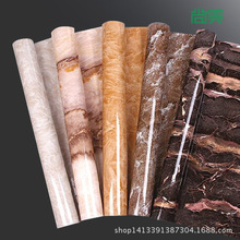 Free shipping+Thick marbled light paint furniture renovation cabinets waterproof adhesive stickers wallpaper(China (Mainland))