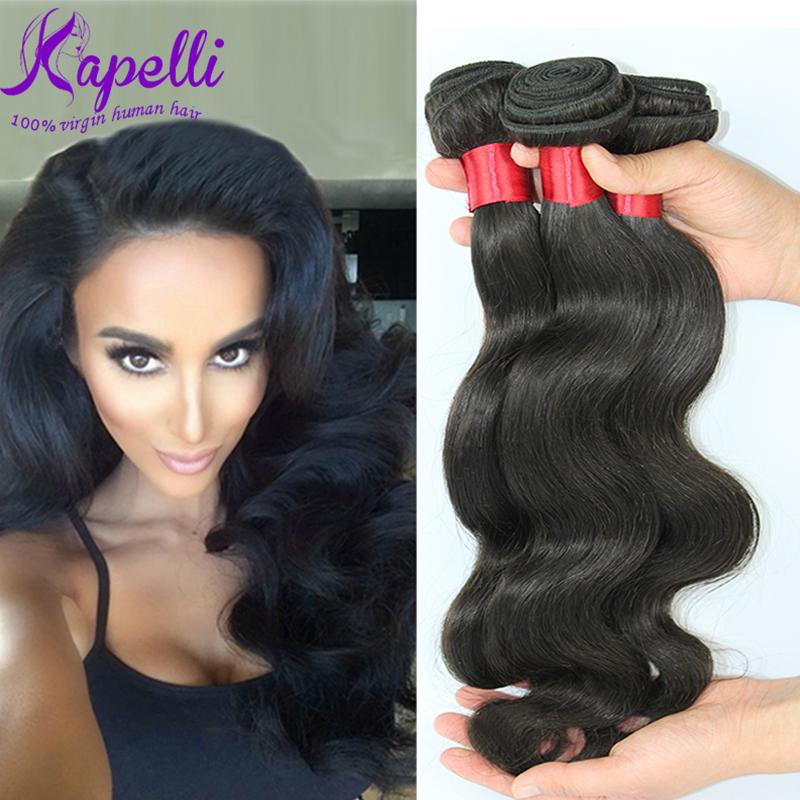 Unprocessed 7A Brazilian Virgin Hair Body Wave 3Pcs/lot Human Hair Weave Cheap Wholesale Virgin Brazilian Hair Weave Bundles Hot(China (Mainland))
