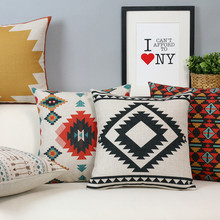 Nordic abstract geometric black white pillow cushion