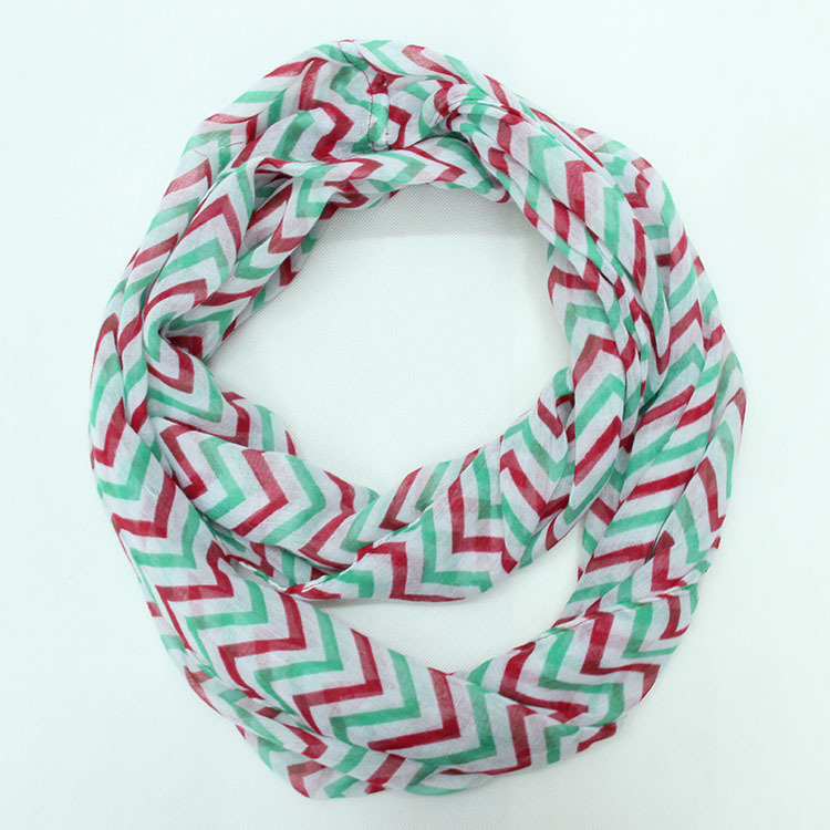 19 Colors American and Europe hottest women fashion double colors stripes wave soft silk scarf
