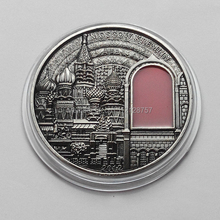 5 pcs/lot Buildings Of Russia Moscow Rare Ancient Old Coins Silver Plated 2012 Palau Art Kremlin(China (Mainland))