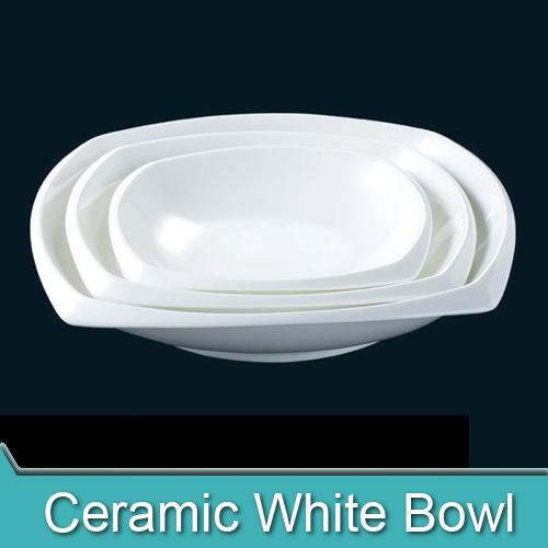 "300pcs/lot HYS0079 Ceramic Bone China Plain White Square Soup Plate in 8"" 10"" 12""(China (Mainland))"