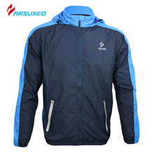 ARSUXEO Breathable Running Clothing Long Sleeve Jacke Wind Coat Men's Windproof Waterproof Cycling Bicycle Bike Jersey Clothing(China (Mainland))