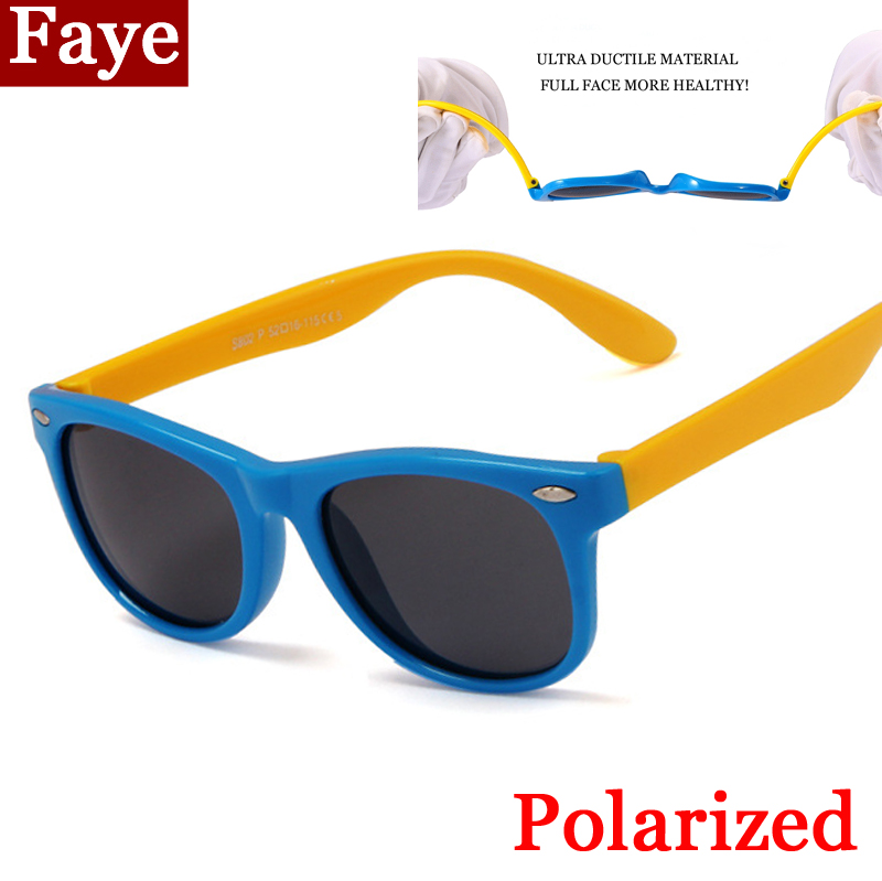Classic Baby Kids Polarized Sunglasses Children Safety Coating Glasses Sun UV 400 Protection Fashion Shades oculos de sol