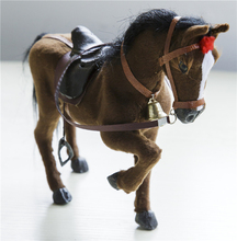 Simulation Crazy Horse Emulation Brown Horse Animal Toy Creative Children Gift 1 Piece(China (Mainland))