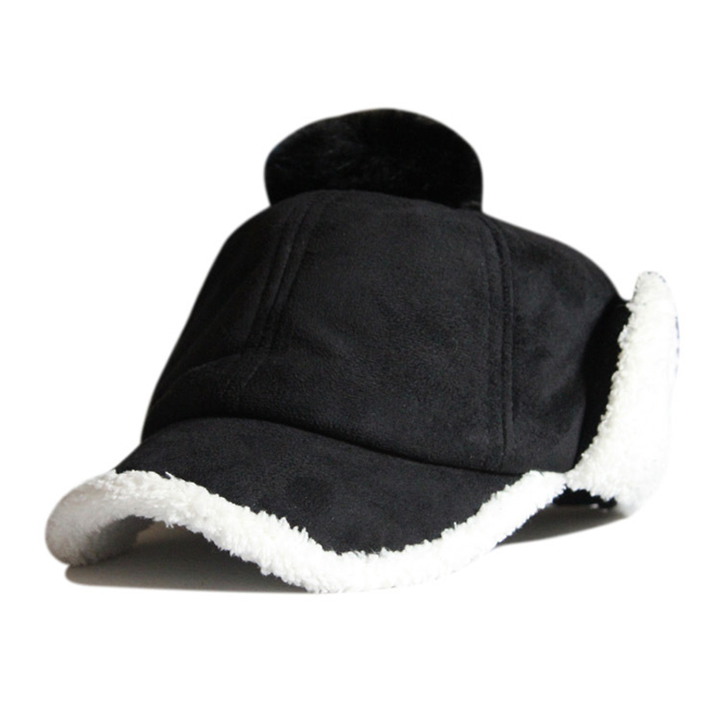 Oem Brand Winter Villi Keep Warm Outside Ear Protection Baseball Cap Unisex Warmth Cashmere Female Ear Hat Cold Thermal Sunhat(China (Mainland))