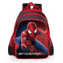 Spiderman cartoon bags of pupils grades 1-6 shoulders the burden of the children kids school boys girls toddler backpack satchel(China (Mainland))