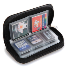2015 Hot Black SD SDHC MMC CF Micro SD Memory Card Storage Carrying Pouch Case Holder Wallet  1O5T 636Y(China (Mainland))