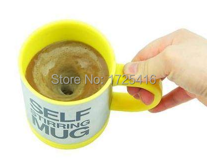 Automatic mixing cup coffee cup lid creative suite electric stainless steel milk past the lazy European Cup Free Shipping(China (Mainland))