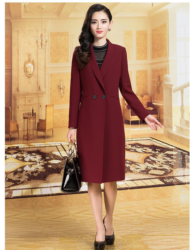 Long Trench Coat Women 2016 Autumn Elegant Formal Abrigos Coat Manteau Femme Casaco Feminino Plus Size 3XL High Quality