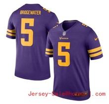2016 Rush Limited Men's Minnesota Vikings 5# Teddy Bridgewater Purple Color Top Quality(China (Mainland))