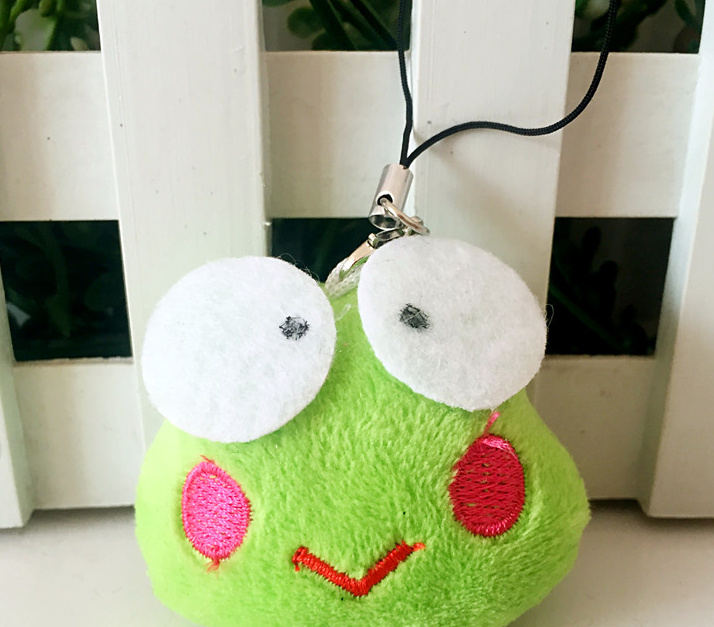 Cute Small 3CM Green Frog Plush doll Accessories Toys Stuffed TOY - String Rope Kid's Gift TOY ; Bouquet DOLL(China (Mainland))