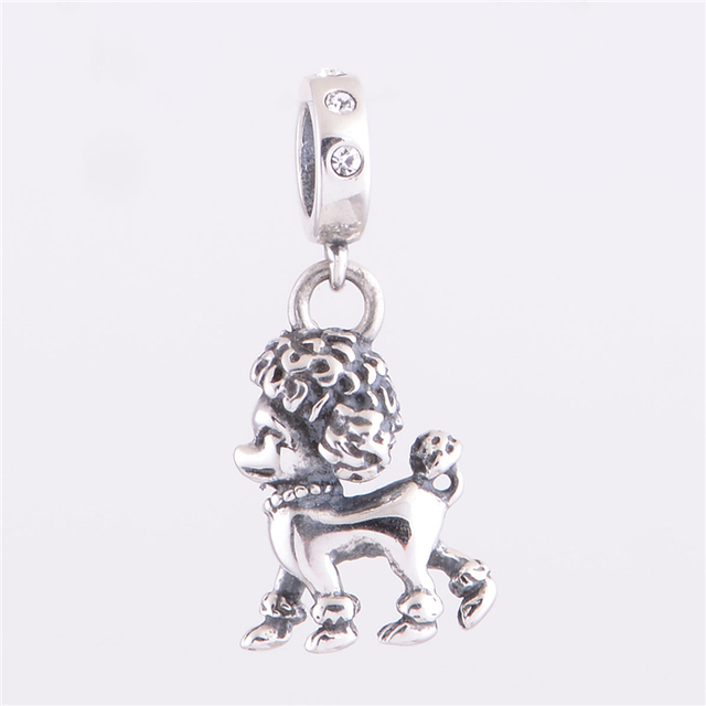 Серебро 925 прекрасная собака подвески бусины женщин DIY ювелирных подходит для Chamilia европейский браслет YZ321